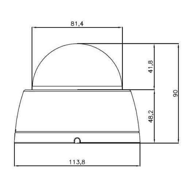 Caméra dôme vision nocture TS3V-80-IR
